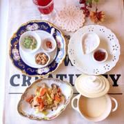 カニクリームスープ 糖質制限 朝食の写真