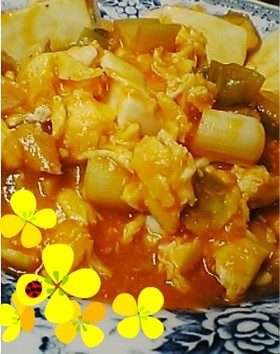 ★低カロ卵と豆腐のチリソース★