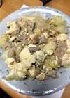 キャベツと豆腐のすき焼き風炒め