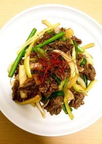 牛肉とセロリの炒め物