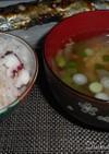 たこ飯と潮味のさんまの団子汁☆つみれ