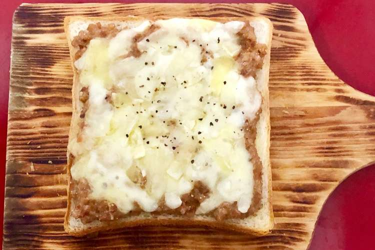トースト 納豆