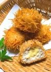 ◆イガグリみたいな鶏ひき肉の揚げだんご♪