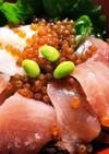 サムライ特製いくら海鮮丼♥️
