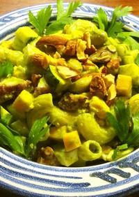 蛸のマカロニサラダ バジルソース