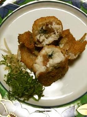 タチウオの梅肉大葉巻きフライ
