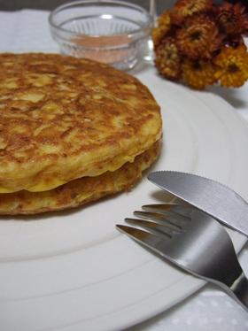 ツナとキャベツのパンケーキ風