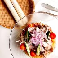 豚と夏野菜のパリパリあんかけサラダ