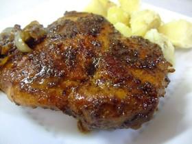 チキンのマスタードバルサミコソテー