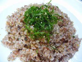 *コンビーフ+梅干+雑穀米=激ウマ炒飯*