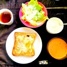 休日朝ごはん*簡単エッグトースト