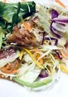 野菜サラダにカリカリnoベーコン