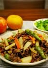 牛肉とレンコンの甘辛ゆず胡椒炒め
