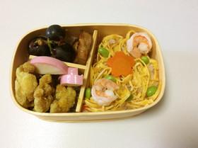 ①文化祭の準備応援❗️ちらし寿司弁当♡
