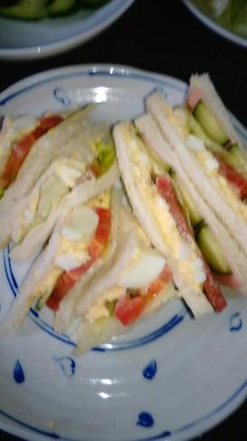 昔からよく作ってる我が家のサンドイッチ☆