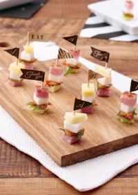 山芋とキムチのスマートチーズピンチョス