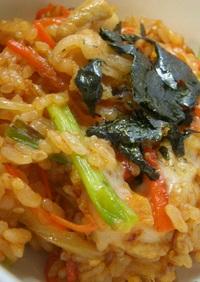韓国風♪豚チーズピリ辛丼