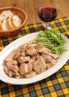 簡単おつまみに♪里芋と鶏肉の赤ワイン煮