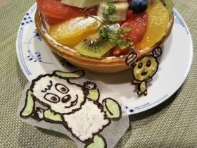 わんわんとうーたん☆誕生日ケーキプレート