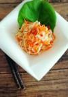 簡単☆塩揉みキャベツと人参の梅甘酢サラダ