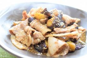 茄子と豚バラ肉のポン酢照り焼き!