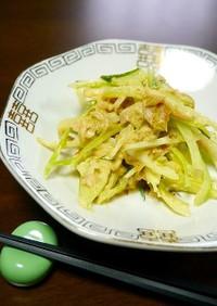 簡単!カリフラワーの茎とツナのマヨ炒め