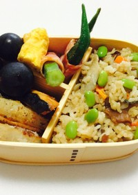 ② 文化祭の準備、応援弁当♡まつたけご飯