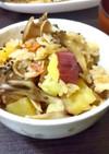秋の味覚❀さつまいもと舞茸の炊き込みご飯