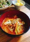 焼肉屋さんのカルビスープ風(チゲ風)
