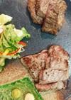 牛ももステーキ2種変わり焼き