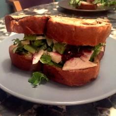 ターキーとクランベリーのサンドイッチ