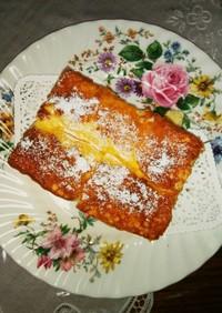 角型で作るスフレチーズケーキ