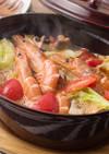 エビとトマトのアヒージョ風鍋