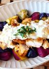 秋野菜と鶏むね肉のチキン南蛮