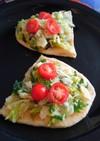 ポテチサラダのオープンサンド