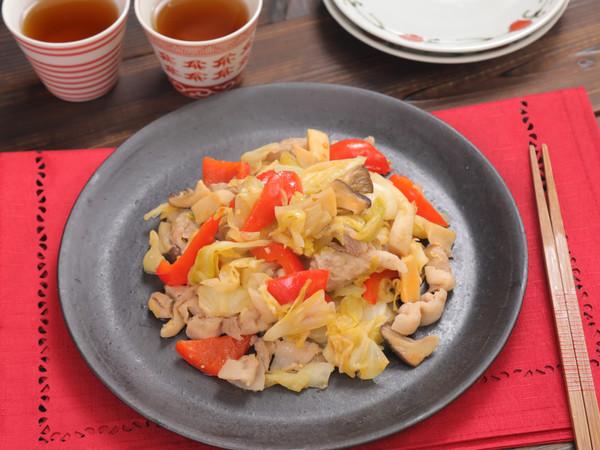 豚肉と野菜の回鍋肉風☆ピリ辛味噌炒め
