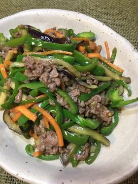 焼き肉のたれで簡単♪残り野菜の青椒肉絲