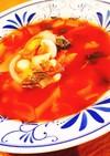 蒸し大豆トマトスープ
