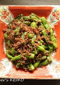 【農家のレシピ】ししとうとひき肉の炒め煮