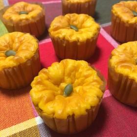 カップでかわいい♡かぼちゃのチーズケーキ