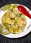 簡単!小松菜と舞茸の親子丼風炒り卵