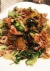 白菜と豚こまの味噌炒め