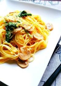 菜園レシピ!味付け要らずささみ小松菜スパ