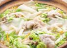 秋白菜と豚しゃぶのつるりん鍋