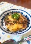 麺つゆだけで!梅しそチーズ鰯の卵とじ丼☆
