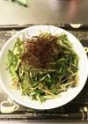 簡単!水菜とサバ缶の韓国風サラダ