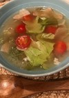 簡単  ベーコンレタストマトスープ♡