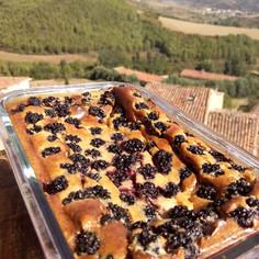 ブラックベリー入りチーズケーキ