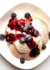 ブルーベリーとヨーグルトのパンケーキ