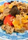 豚肉ときくらげのトマト卵炒め
